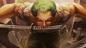 one, piece, roronoa, zoro, keeping, a, sword, on, mouth, 4k, hd, anime, wallpapers