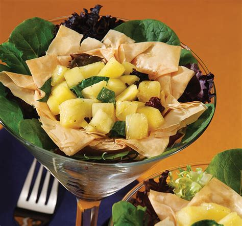 Remove phyllo dough from package and have a damp towel ready so you can keep the phyllo sheets covered as you work. Athens Foods | Tropical Fruit Salad Phyllo Cups - Athens Foods