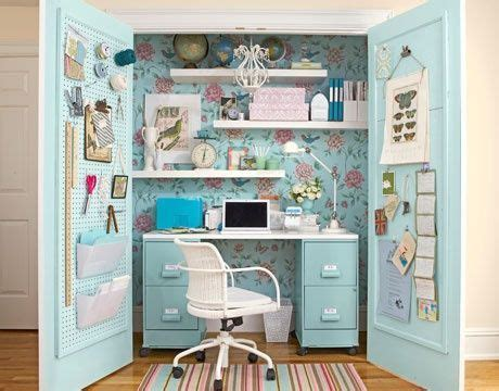 desk inside a closet desk inside a closet space saver for the home pinterest