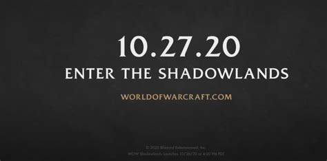 World of Warcraft Shadowlands Release Date Announced by ...