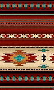 NATIVE AMERICAN INDIAN BLANKET FABRIC BRICK RED 30 ...