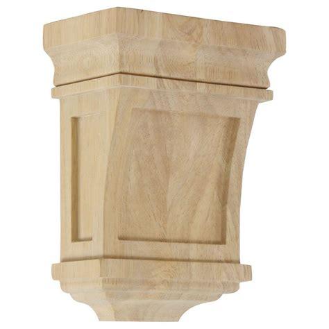 Oak Corbel by Ekena Millwork 3 In X 5 In X 7 In Unfinished Wood