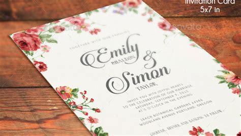 elegant psd wedding invitation templates print