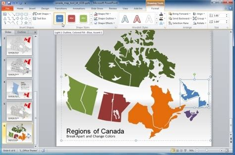 canada map template  powerpoint