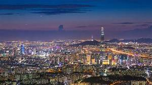 South Korea Skyline Of Seoul City, The Best View Of South ...