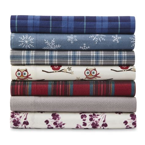 Sears Bed Sheets by Cannon Flannel Sheet Set