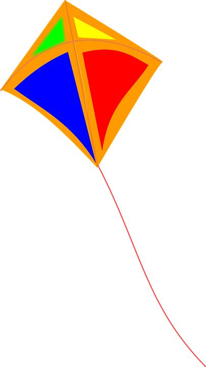 kite flying wind  vector graphic  pixabay