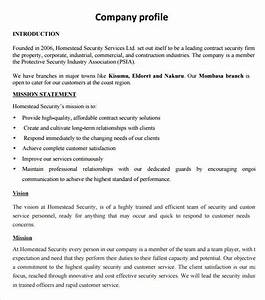 company profile samples find word templates With how to make a company profile template