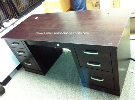 sauder office port executive desk pin by furniture assembly contractors washington dc md va