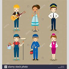 People With Different Occupations Set, Profession, Avatar, Worker Stock Vector Art