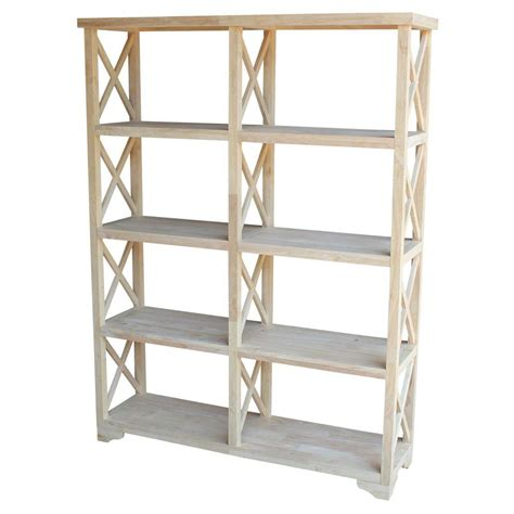Unfinished Bookcase by International Concepts Hton Unfinished Open Bookcase Sh