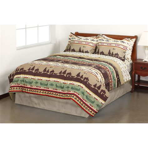 mainstays coordinated bedding set gone fishing walmart com