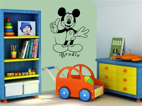 Sensational Mickey Mouse Wall Art Decal Vinyl Sticker Wall