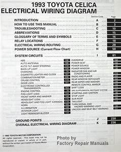 1993 Toyota Celica Electrical Wiring Diagrams - Original Shop Manual