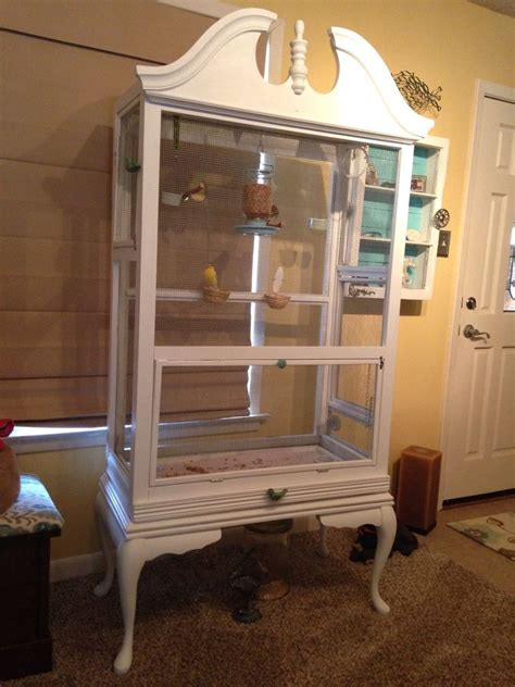 hometalk repurposed dresser  bird aviary