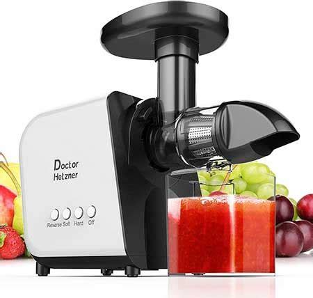 juicer masticating hetzner slow juice cold machine extractor press doctor vegetable function reverse nutrient jug brush fruit quiet motor juicers