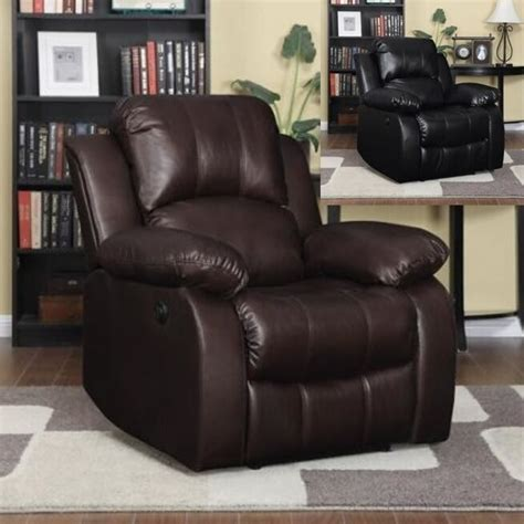 Automatic Recliner Chairs by Large Leather Electric Power Recliner Arm Chairs Recliners