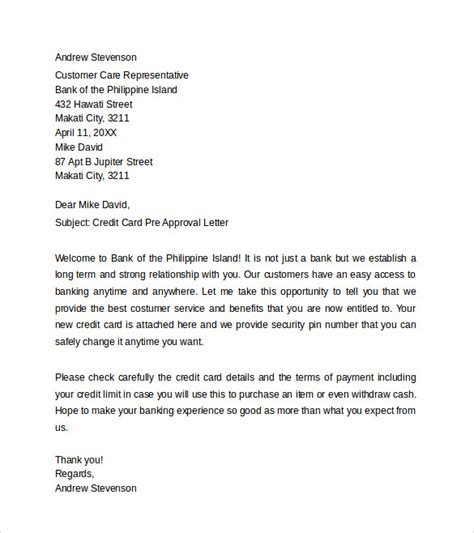 sample pre approval letter    documents