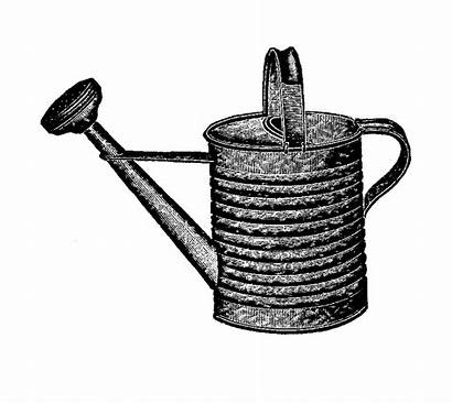 Watering Garden Clipart Antique Graphic Tool Illustration