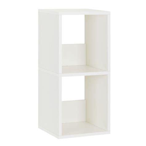 2 Shelf White Bookcase by Way Basics Duo 2 Shelf Narrow Bookcase Storage Shelf In