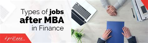 Types of jobs after MBA in Finance - IPEM