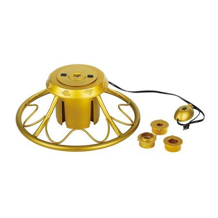 2rotating christmmas tree stand home heritage golden rotating tree stand for trees up to 9 walmart