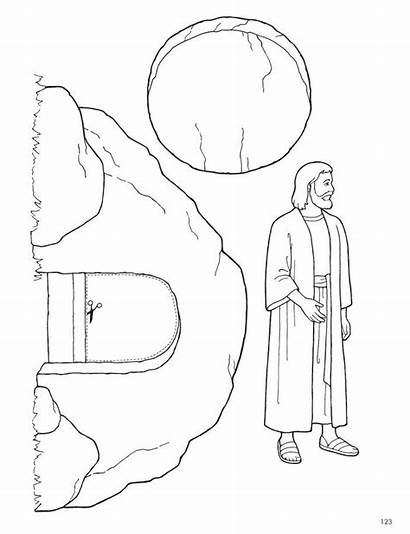 Jesus Coloring Easter Pages Lds Lesson Christ