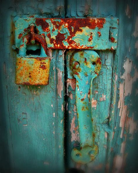 rusty lock photograph  perry webster
