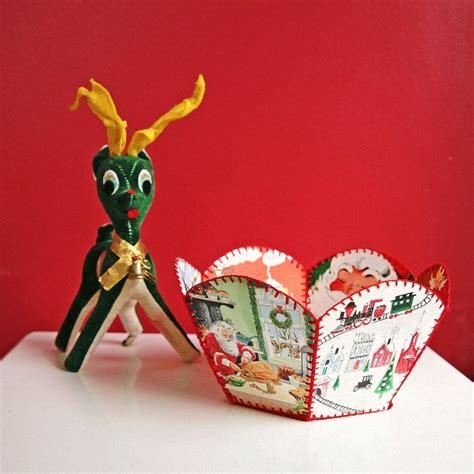 diy vintage christmas diy vintage christmas card bowl my so called crafty life