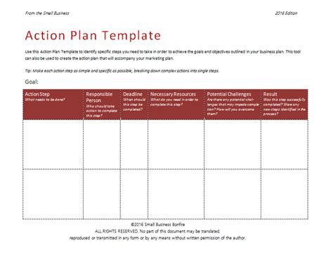 action plan template 58 free plan templates sles an easy way to plan actions