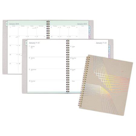 cambridge holographic weekly monthly planner weekly monthly
