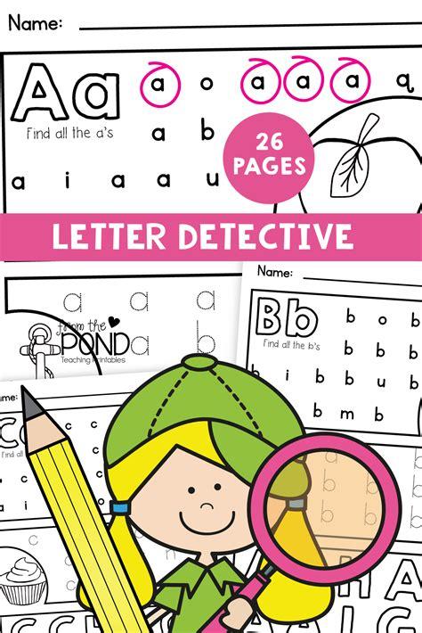 letter detective printable file  images alphabet