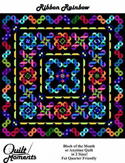 Rainbow Ribbon Quilt Quilts Pattern Patterns Marilyn