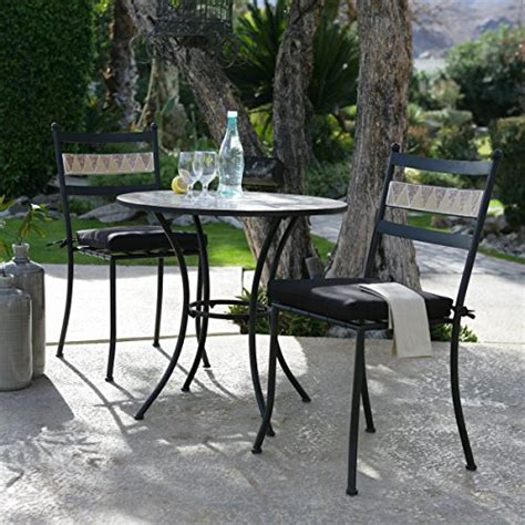 black modern 3 gramercy home mosaic patio bistro set