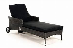 Gartenmöbel Rattan Grau : rattan liege sonnenliege liegestuhl brooklyn mix grau ~ Watch28wear.com Haus und Dekorationen