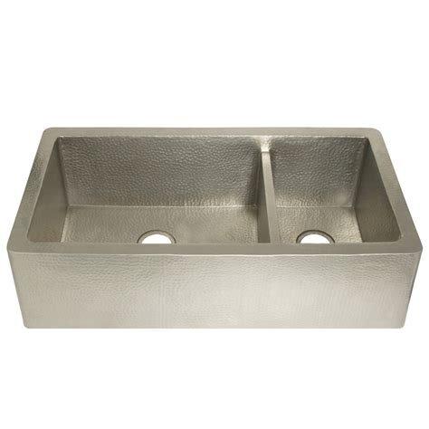 brushed nickel kitchen sink farmhouse duet pro brushed nickel sink native trails