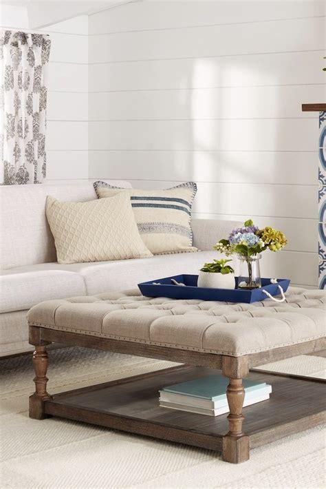 creston beige linen tufted ottoman how to clean an ottoman overstock com