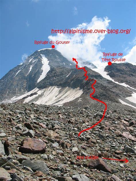topo mont blanc du nid d aigle au grand couloir image ctoc org
