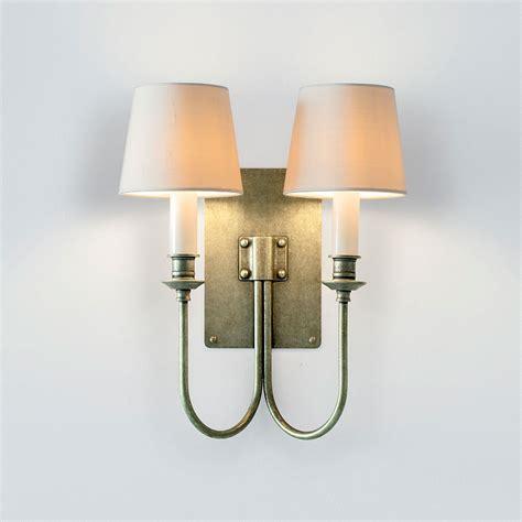 double brass wall light elegant station wall light jim