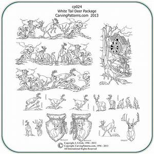 White Tail Deer Patterns – Classic Carving Patterns