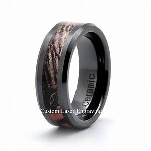 ceramic wedding band mens wedding ring his rings hers With ceramic mens wedding rings