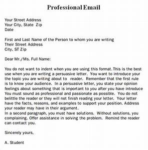 professional email template 7 free download for pdf With how to write a business email template