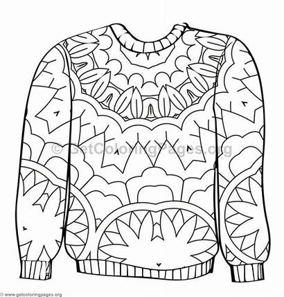 Sweater Coloring Ugly Pages Sheet Template Getcoloringpages
