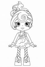 Coloring Sweets Pages Shoppies Candy Printable Shopkins Adults Elegant Albanysinsanity sketch template