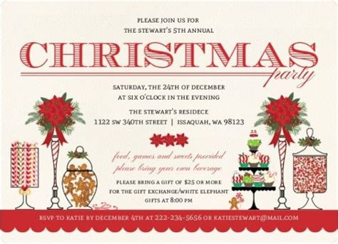 Christmas invitation ideas from partytrail inspiring
