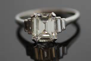 vintage emerald cut engagement rings emerald cut engagement ring vintage onewed