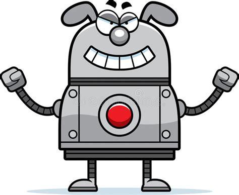Evil Robot Dog Stock Vector