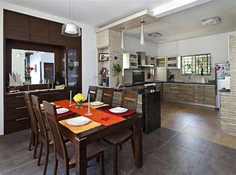 kitchen and dining interior design dining area open kitchen with wooden furniture