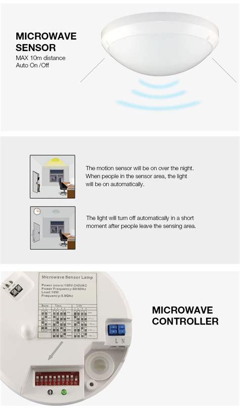 motion sensor ceiling light indoor new type microwave sensor light for ceilling indoor led