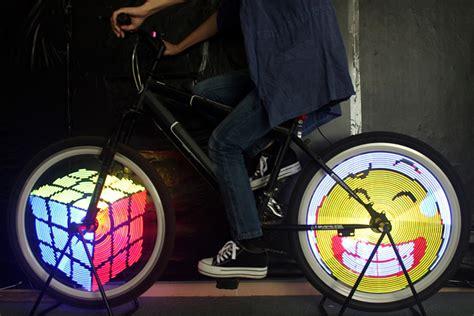 led bike wheel lights dealsmachine yq8003 diy programmable bicycle spoke bike